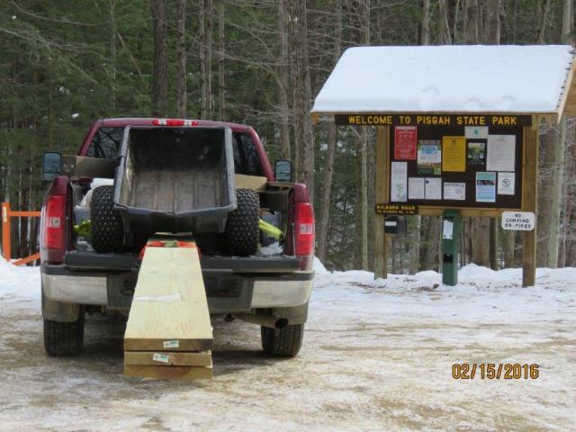 Bridge Materials Arrive at Kilburn Trailhead