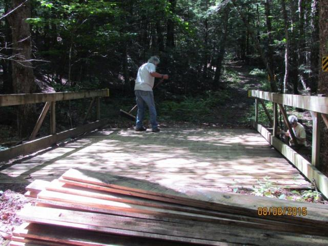 Whip Sweeps Bridge after old Wear Boards Removed